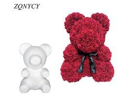 Teddybeer van kunst rozen DIY