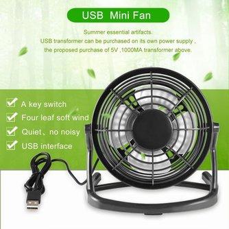 Mini USB Cooler Cooling Mini Bureau Ventilator Draagbare Desk Mini Fan Super Mute Coolerfor Notebook Laptop Computer Met sleutel schakelaar