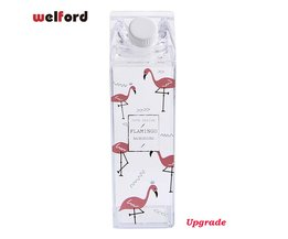 Flamingo Waterfles Melkpak Vorm
