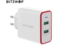BlitzWolf USB Snellader Dual Poorten