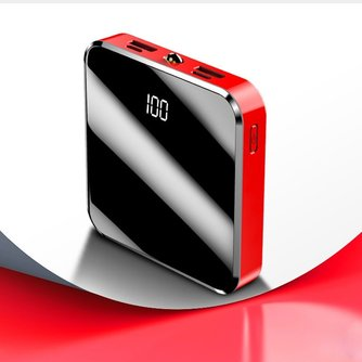20000 mAh Draagbare Oplader Power Bank 20000 mAh Mini PowerBank Mirror Screen Externe Batterij Voor Slimme Mobiele Telefoon