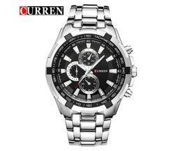 Luxe Quartz Horloge voor Heren