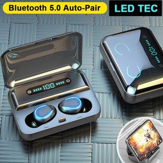 Draadloze Bluetooth Oortjes met Ledlicht