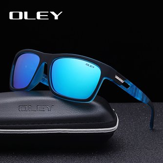 Guy's Zonnebril Van OLEY Gepolariseerde Zonnebril Klassieke TR90 vrouwen bril 7-in-1 luxe doos aanpasbare logo YG203