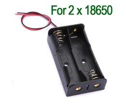 Plastic Batterijhouder voor 2x 18650 Batterijen