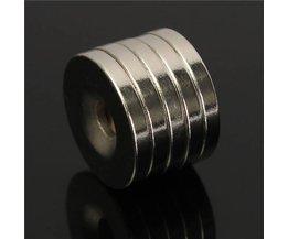 5 stuks N50 Neodymium Ringmagneten
