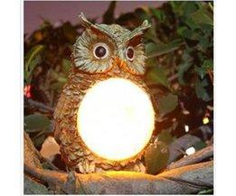 Buitenlamp op Zonne-Energie Uil LED
