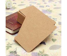 Kraftpapier 100pcs blanco kaarten om berichten of notities op te zetten