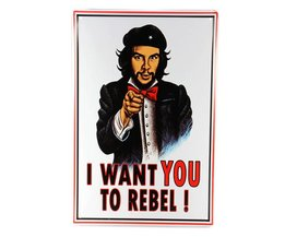 Metalen Poster: I want you to rebel