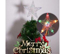 Verlichte Kerstboom Piek Stervormig
