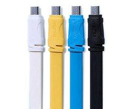 2 in 1 Telefoon Oplader Micro USB Lineaal