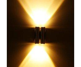 LED Wandlamp van Aluminium