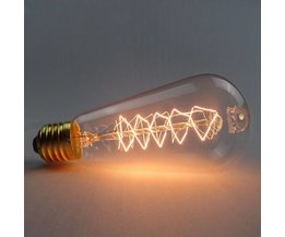 E27 Lamp met Gloeidraad in Edison Retro Stijl