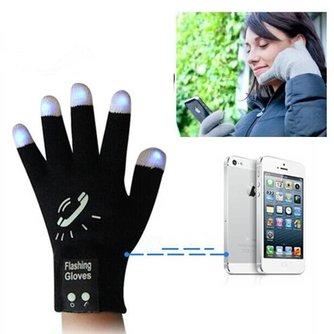 Lichtgevende Touchscreen Handschoenen