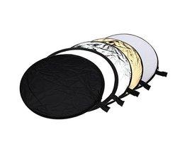 5 in 1 Multi Inklapbare Disk Vorm Flitsreflector