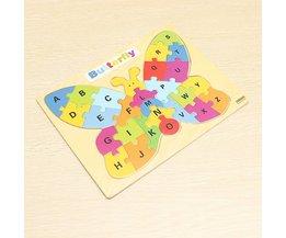 YunZhi Educatieve Puzzel voor Kinderen in Vlindervorm