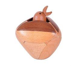 Handgemaakte 3D Houten Puzzel Vogel