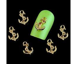 Anker Decoratie voor Nagels 10 Stuks