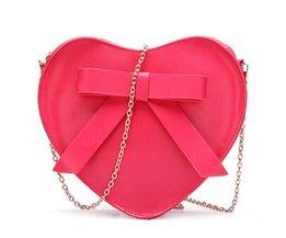 Hartvormige Crossbody Tas met Strik