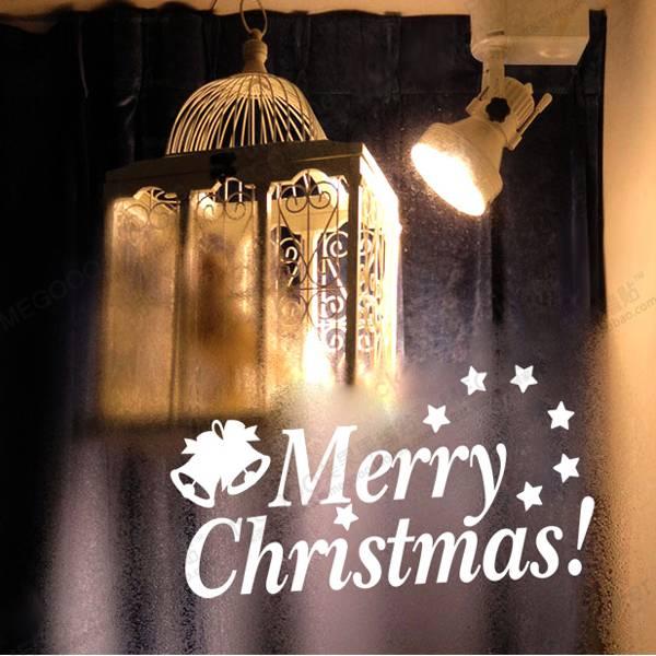 kerst raamdecoratie sticker merry christmas i myxlshop (supertip)