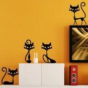 4 Katten-Muurstickers