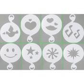 8 Verschillende Plastic Cappuccino Sjablonen