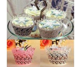 Sneeuwvlok Cupcake Wraps