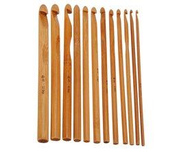 12 Bamboe Haaknaalden