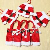 Decoratie Voor Bestek Kerstmannetjes 6 Stuks