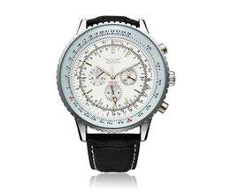 Mannen Horloge Met Grote Wijzerplaat