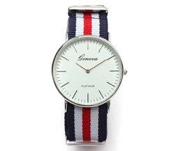 Unisex Horloge met Canvas Bandje