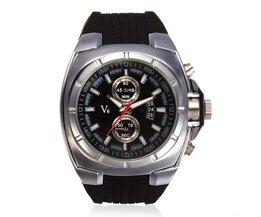 V6 Horloge met Siliconen Band
