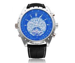 Heren Horloge Met Blauwe Wijzerplaat
