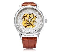 Sewor Mechanisch Horloge voor Heren met Grote Wijzerplaat