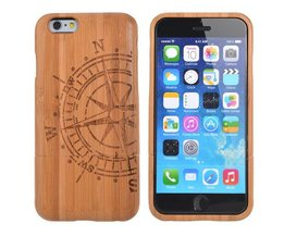 Houten Hoesjes voor iPhone 6 met Kompas Design