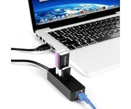 USB Netwerk Adapter met 3 USB-poorten