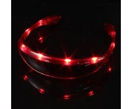 LED Brillen In Drie Kleuren