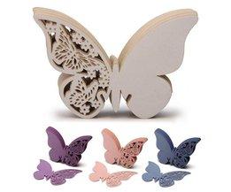 50 Naamkaartjes Vlinder