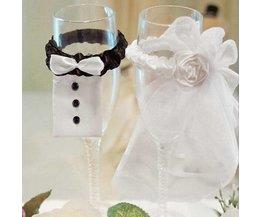 Versiering Bruiloft Voor Glazen