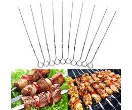 Barbecue Spiesjes van Roestvrij Staal 10 Stuks