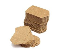 Cadeau Labels Van Kraftpapier