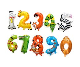 Folie Ballonnen Dier en Cijfer van ongeveer 41cm