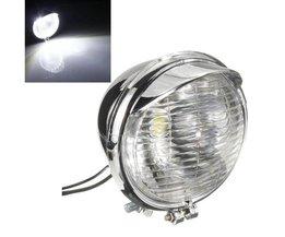 Koplamp Motor Universeel 25 LEDs met Chromen Behuizing