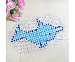 Anti-Slip Badmat van PVC met Dierenprint
