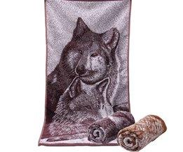 Badhanddoeken Wolf 34x73cm