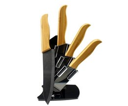 Keramische Messenset Met Messenblok