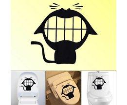 Kat Sticker voor de Toiletbril