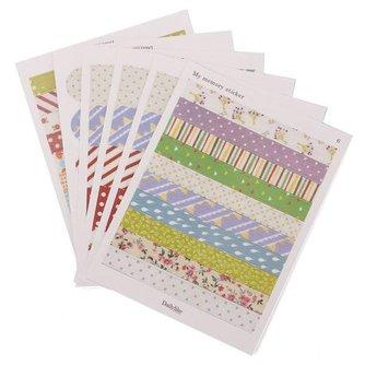 6 Vellen Scrapbook Stickers