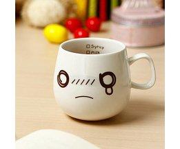 Koffiemok met Gezichtjes