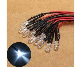 Set van Tien LED Peertjes Met Snoer